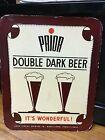 Vintage 1950's Adam Schmidt PRIOR Double Dark Easel Back Beer Advertising Sign