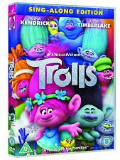 Trolls DVD Anna Kendrick Sing-Along Edition New Sealed UK Xmas Gift