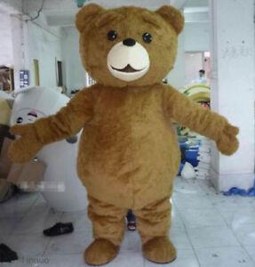 Teddy Bear of TED Adult Size Halloween Cartoon Mascot Costume Fancy Dress