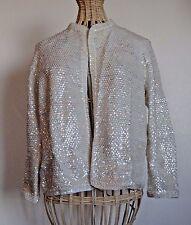 Vintage Irridescent Sequin Cardigan Sweater