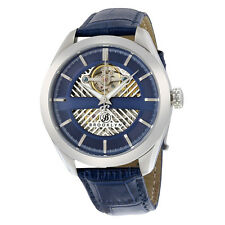 Brooklyn Pierrepont Skeleton Mens Automatic Blue Dial Watch