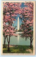 Japanese Cherry Blossoms Trees Washington Monument Washington DC * Postcard A5