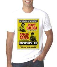 NEW ROCKY 2 FIGHT POSTER ROCKY VS APOLLO CREED  T-SHIRT