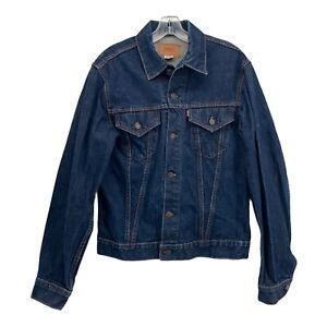 Vintage LEVIS Big E Denim Jacket Size 42 Type 3 # 71205-0217 Dark Indigo