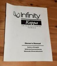 INFINITY KAPPA INTERNATIONAL SERIES 1992 KATALOG PROSPEKT VOLLSTÄNDIG 40 SEITEN