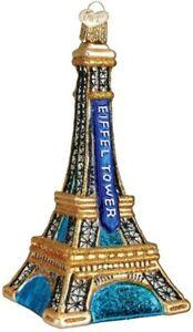 Old World Christmas 20056 Glass Blown Eiffel Tower Ornament