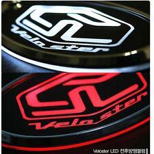 [Ksepeed] (Fits: Hyundai 2011 12 Veloster) Front Hood white & red LED emblem