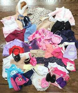 """Lot of 18"""" Doll Clothes Pants Tops Outfits Robes Accessories fit American Girls"""