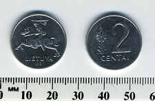 Lithuania 1991 - 2 Centai Aluminum Coin - National arms