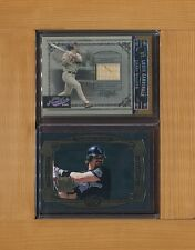 "LARRY WALKER-1999 UD ""Perception"" & 2005 Playoff Prime-Cuts Game Bat #16/18"