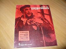 RIVISTA DEL CINEMATOGRAFO TEATRO TELEVISIONE N.6 1965 ZORBA IL GRECO DE FILIPPO