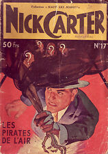 Nick Carter ! N°17 ! Les Pirates de l'air ! 1949 !