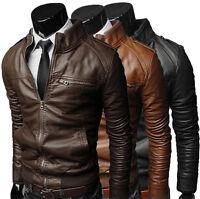 PROMOZIONE Giacca Giubbotto in di Pelle Uomo Men Leather Jacket Veste n3 TG 50 L