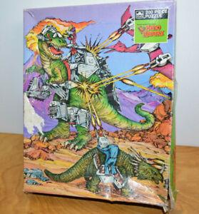 Vintage DINO RIDERS JIGSAW PUZZLE 1988 Retro Dinosaurs Toys Near Complete