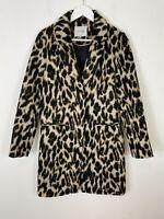 Women's George at Asda Leopard Animal Print Trench Coat Jacket UK Size 8