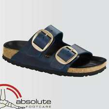 Birkenstock Arizona Big Buckle Natural Leather Blue 1014246 - Regular Fit