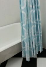 TIFFANY BLUE WITH WHITE GRAPHICS STANDARD SHOWER CURTAIN