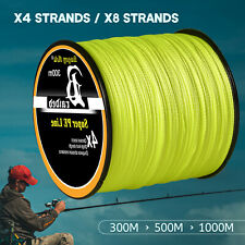 4/8 Strands Super Strong Fishing Line Braided Fish Lines 12-100Lb 328-1093Yds