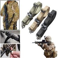 Tactical Quick Detach QD 1 / 2 Point Multi Mission Rifle Nyon Sling Swivel Set