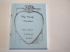 Marriage Clay County Illinois IL history genealogy Flora Louisville 1885-1895