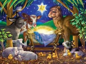 Vermont Christmas A Child is Born Manger 550 Piece Jigsaw Puzzle Creche Fun