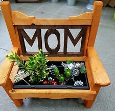 Garden bench planter, son, mum, mom, nan, dad, any 2/3 letters. Gift