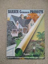 Vintage Barber Genasco Products Catalog Asbestos