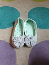 Womens Grey Slippers With Bows Size 5