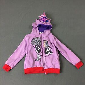 Kids My Little Pony Twilight Sparkle Hoodie Kids Size Small Wear & Broken Zipper