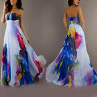 Women's Vintage Sleeveless Floral Long Maxi Dresses Party Cocktail Evening Dress