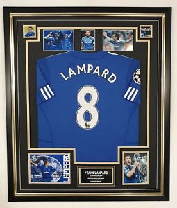 Framed Frank Lampard Signed Photo with Shirt Autographed Picture and Jersey