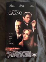 Casino (VHS, 1996, 2-Tape Set, Pan  Scan) Robert DeNiro, Joe Pesci, Sharon Stone