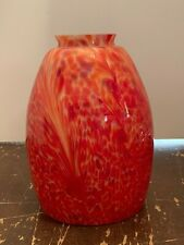 Red Art Glass Pendant Lamp Shade A