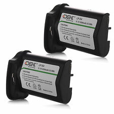 2x 3200mAh LPE4 Battery for Canon EOS 1D Mark III IV 1DC 1DX 1DS Mark III Camera