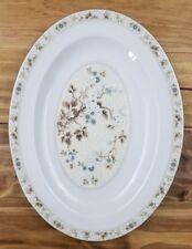 "Royal Doulton Mandalay TC1079 13"" Serving Tray Platter Blue White Flowers Leaves"