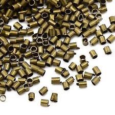 500 x tubo de 1.5mm De Bronce Antiguo Perlas resultados de crimpado