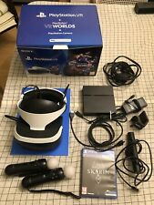 PlayStation VR Bundle, Mint Condition, Extra 2 Move Controllers + Skyrim Game
