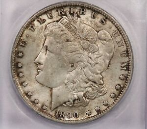 1890-O 1890 Morgan Silver Dollar S$1 ICG MS64