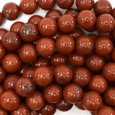 """10mm red jasper round beads 15"""" strand"""