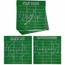 Football Coasters - 24-Pack Disposable Thick Paper Coaster Set 3 Designs