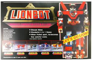 DHL  NEW VOLTRON LIONBOT 1980 DIE CAST TAIWAN VERSION ACTION FIGURE