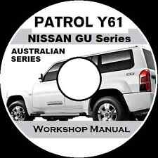 NISSAN PATROL GU Y61 AUSTRALIAN Petrol & Diesel ute/wagon WORKSHOP  MANUAL CD