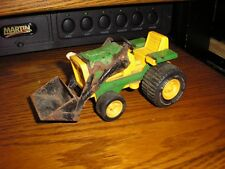 "Vintage 5 3/4"" Long Custom Tonka Toy Garden Tractor with an end loader"
