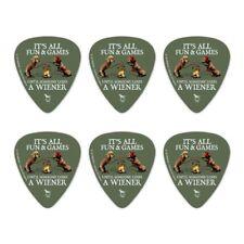 All Fun Until Someone Loses Wiener Dog Novelty Guitar Picks Medium - Set of 6