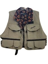 SIMMS FISHING PRODUCTS Fishing Vest  Green Khaki Bozeman Montana Lined.   size L