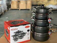 10pcs Non Stick Die Cast Stock pot Deep Casserole Set Cooking Pot 18cm to 26cm