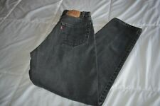 LEVI'S VINTAGE 560 LOOSE FIT TAPERED LEG  BLACK JEANS  32X32