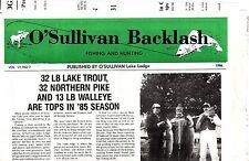 O'Sullivan Lake Lodge 1986 St Sauveur Quebec Canada Vintage Newspaper