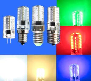 G4/E12/E14/E17/BA15D LED bulb Red/Green/Blue/White/Warm 64-3014 Lights 110V 120V