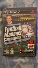 FOOTBALL MANAGER CAMPIONATO 2003   NUOVO  ITALIANO PS2